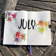 Hello July - not really ready for you yet but this is a start!  Enjoying my fab new doodle book from Eli @productivestyle - I have the kindle copy of Floral Planner Doodles: 101 step-by-step Botanical Drawings and its FAB . Look out for lots of journal doodling to come - summer is definitely here!