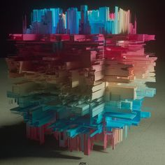 AEDA 94    #abstract #digitalart #3dart #c4d #cinema4d #otoy #octane #beeple #displacement #creative #instaart  #rainbow #jdx_productions by jdx_productions