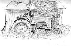 Vintage Tractor Drawings | home gallery pencil drawings tractor feed from pencil drawings