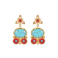 Jai Earrings Turquoise,
