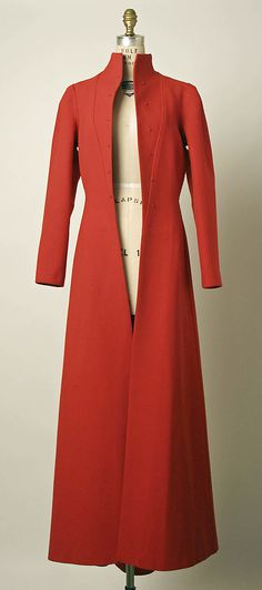 red wool evening coat