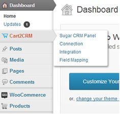 Cart2CRM - Woocommerce and SugarCRM integration   http://codecanyon.net/item/cart2crm-woocommerce-and-sugarcrm-integration/8234719