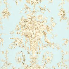 Thibaut Residence - Robin - Wallpaper - Blue