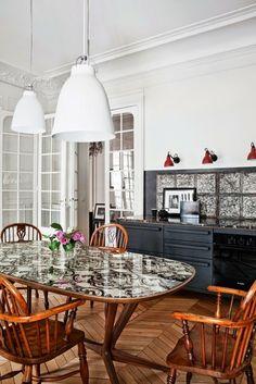 - DECORACION - Una casa en París. Comedor ~Dining