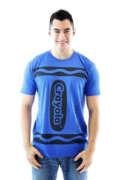 Crayola Crayon Cerulean Blue Adult Costume T-shirt (Adult X-Small)