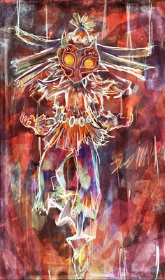 "Denis Hanusch sur Twitter : ""Extraordinary display of color! Skull Kid by Lunaros on DeviantArt #Zelda #MajorasMask http://t.co/nMKxg7qxVO"""
