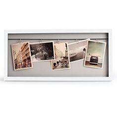 Vitrine+Clothesline+Photo+Frame+-+White