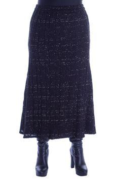 Fusta tricot negru