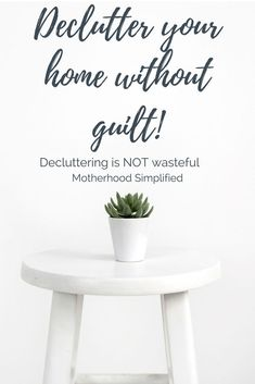 One of the biggest hurdles in getting rid of clutter is holding to things out of guilt or obligation. We are given gifts, hand me downs, things for free and THINK we need to keep them. When we declutter our homes, we declutter our minds and hearts. A clutter free home is easy to organize, live in and love in. #ClutterFreeHome #DeclutteringTips