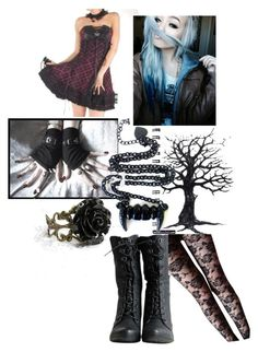 """Emo prom"" by emo-steampunk-fation ❤ liked on Polyvore"