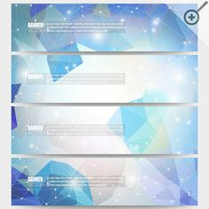 Set of modern vector banners by VectorShop on Creative Market