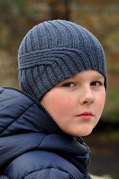 10th wave hat pattern for boys / men.  buy the pattern at Ravelry. #hatsforboys #knittinghats #hatsformen #knittingformen