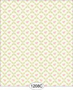 Dollhouse Wallpaper Melissa Ribbon Trellis