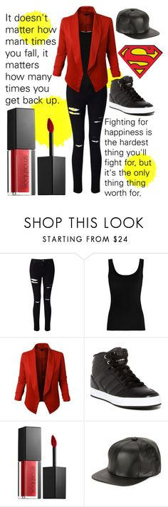 """""""Be A BAWSE (Inspired by Lilly Singh/Superwoman)"""" by shtpshtp ❤ liked on Polyvore featuring Miss Selfridge, Twenty, LE3NO, adidas, Smashbox and Marcus Adler"""