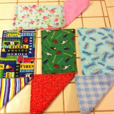 Flannel burp rags....why pay an arm and a leg when they are cheap and super simple to make