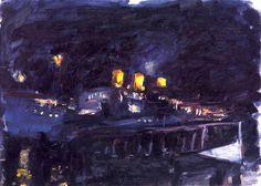 Wojciech Weiss (Polish, 1875-1950) | The Steamboat, 1923