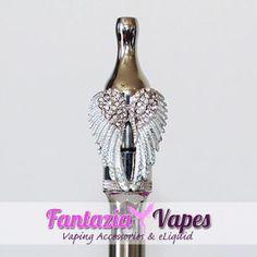 Fantazia Vapes - Silver Angel Wings V1 Tank Jewelry, $9.99 (http://www.fantaziavapes.com.au/silver-angel-wings-v1-tank-jewelry/)