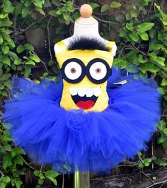 dispicable me tutu images | Despicable Me 2 Eyed Minion Halloween Birthday Tutu Costume