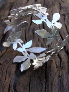 Sterling silver shadow bangle by Tiffany Marx