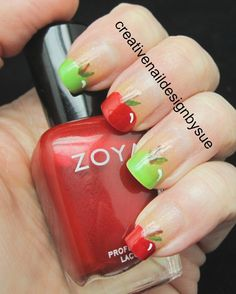 fall nail designs Fall Into Autumn Challenge-Apples Crazy Nail Designs, Creative Nail Designs, Fall Nail Designs, Creative Nails, Sexy Nails, Cute Nails, Pretty Nails, Fingernail Designs, Acrylic Nail Designs