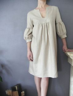 Tan Dress: From Etsy seller: isabelamyo