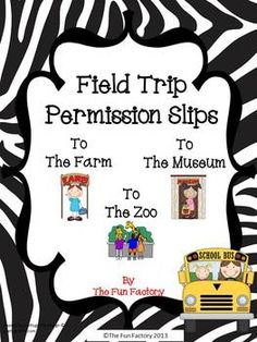 #Field Trip #Permission Slips $1.50
