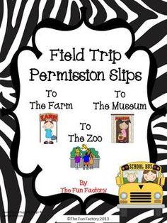#Field Trip #Permission Slips $1.50