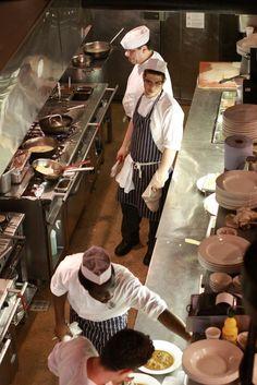 kitchen exposed restaurant - Penelusuran Google