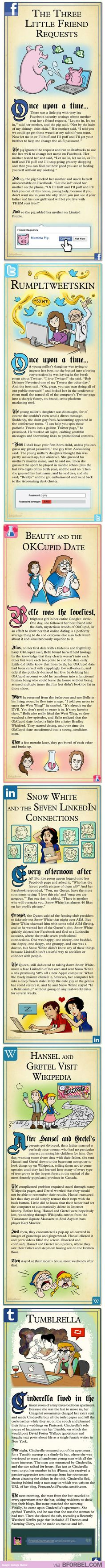 If 6 Of Our Favorite Childhood Stories Existed In The Time Of The Internet…