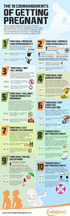 10 commandments of getting pregnant