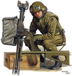 "Door gunners in Vietnam , also known as ""shotgun riders"", played a crucial roll in protecting the ai - Military Weapons, Military Uniforms, Military Paint, Military Drawings, Vietnam War Photos, My War, Military Pictures, Military Diorama, Fantasy Warrior"