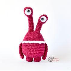 Little Monster amigurumi pattern by Elisas Crochet Amigurumi Patterns, Amigurumi Doll, Crochet Patterns, Quick Crochet, Free Crochet, Half Double Crochet, Single Crochet, Lion Brand Yarn, Little Monsters