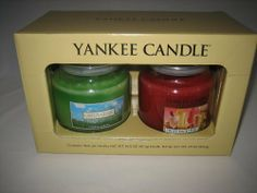 Yankee Candle Company Fresh and Fruity Jar Candle Set - Gift Box of TWO! Green Grass and Fruit Smoothie by Yankee Candle. $45.00. Genuine Yankee Candles - the best in the business!. Each candle has a 65-90 hour burn time. Boxed Gift Set. Includes TWO 14.5 ounce Jar Candles. Boxed gift set with 2 Jar candles in a decorative gift box. Scents include Green Grass and Fruit Smoothie.