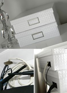 genius simple ways to hide common eyesores, cleaning tips, diy, home decor, Conceal your routers and wires with card boxes sweetsanitydesigns com