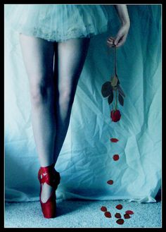 Red Pointe with a Rose