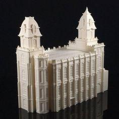 Download on https://cults3d.com #3Dprinting #Impression3D Manti, Utah LDS Temple Model 3D file, TheTempleStore