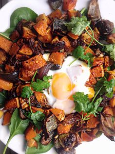 Warm up with this toasty spiced winter vegetable hash with butternut ...