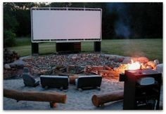 DIY pvc backyard movie screen...this would be great for family time! Or just me and him time<3