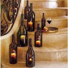 Wine bottle craft idea.