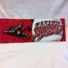 Flying Squirrels Baseball Bumper Sticker