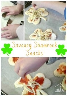 Savoury shamrock snacks are a fun food to prepare with kids for St Patricks Day. They will make a fab addition to your party buffet.