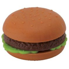 """Ty Beanie Eraserz - Hamburger by Ty. $3.95. For Ages 3 and Up. Approximately 1.5"""". TY Beanie Puzzle Eraser Iwako - HAMBURGER (1.5 inch)"""
