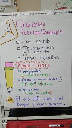 Spanish Anchor Charts, Anchor Charts First Grade, Kindergarten Anchor Charts, Reading Anchor Charts, Kindergarten Writing, Dual Language Classroom, Bilingual Classroom, 2nd Grade Classroom, Bilingual Education