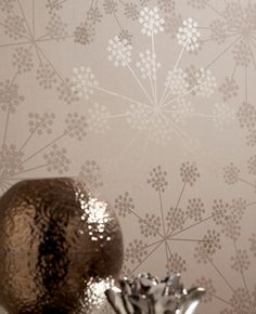 I totally want to to a modern wallpaper accent wall in our dining room. This Sparkle: Brown Wallpaper from Graham & Brown is perfect! Sparkle Wallpaper, Cream Wallpaper, Metallic Wallpaper, Modern Wallpaper, Home Wallpaper, Amazing Wallpaper, Wallpaper Patterns, Wallpaper Ideas, My Living Room
