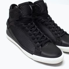 ZARA - MAN - MESH LACE-UP SHOES