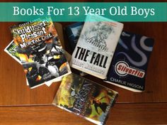 Books For 13 Year Old Boys - as suggested by a soon tobe 13 year old! Gifts For Teen Boys, Books For Teens, Teen Boy Party, My Children Quotes, 13 Year Old Boys, My Books, Good Books, Raising Boys, Classroom Fun
