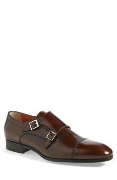 Santoni 'Upton' Double Monk Strap Shoe (Men) $625.00 available @Nordstrom