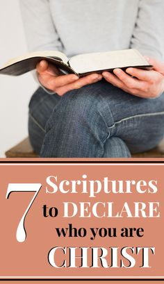 Do you struggle with letting the words of others define who you are? Here are 7 biblical truths to declare who you are in Christ. #bibletruth #identity #scripture Motivational Bible Verses, Powerful Bible Verses, Bible Verses About Love, Encouraging Bible Verses, Scriptures, Christian Devotions, Christian Encouragement, Christian Life, Christian Living