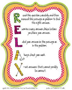 Need your students to relax during testing?  Use this poster to remind them that they have the tools they need to do their very best!  I create...