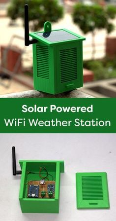 How to build a Solar powered WiFi Weather Station with a Wemos board. The Wemos … How to build a Solar powered WiFi Weather Station with a Wemos board. The Wemos Mini Pro have small form-factor and wide range… Continue reading → Wifi Arduino, Esp8266 Arduino, Arduino Programming, Arduino Board, Arduino Laser, Electronics Gadgets, Electronics Projects, Diy Tech Gadgets, Mobile Gadgets